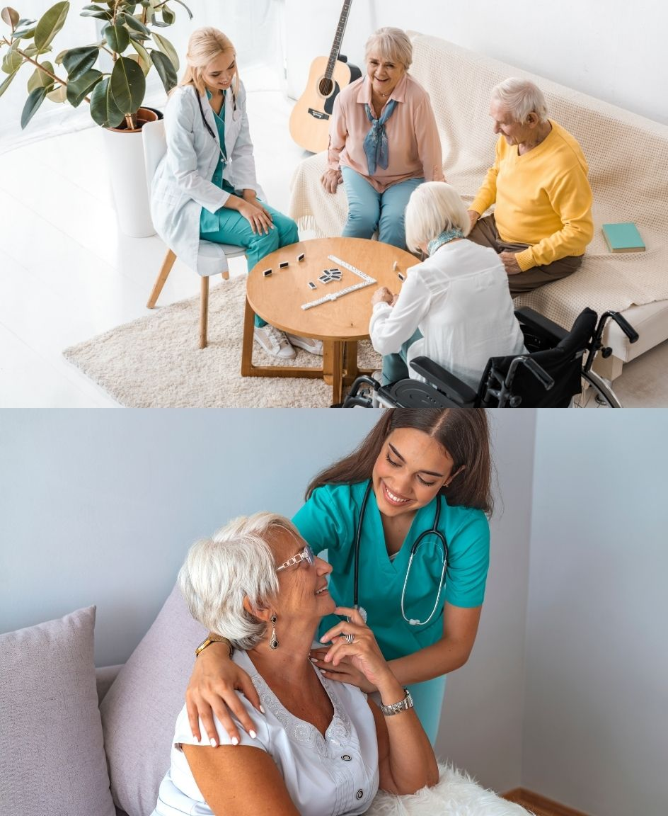 In-home care and assisted living are both options that aim to provide your loved one with care and support
